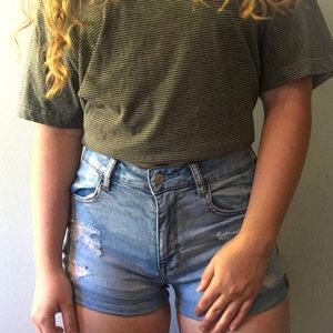 PACSUN high rise jean shorts